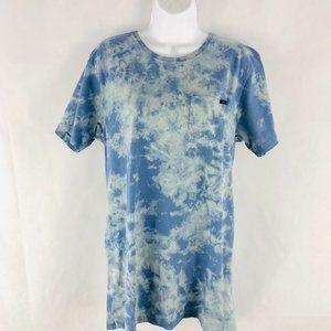 Rusty Blue Tie Dye Tee M